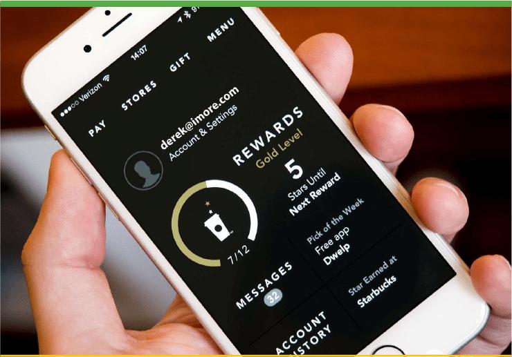 Starbucks Loyalty Rewards Program Mobile App